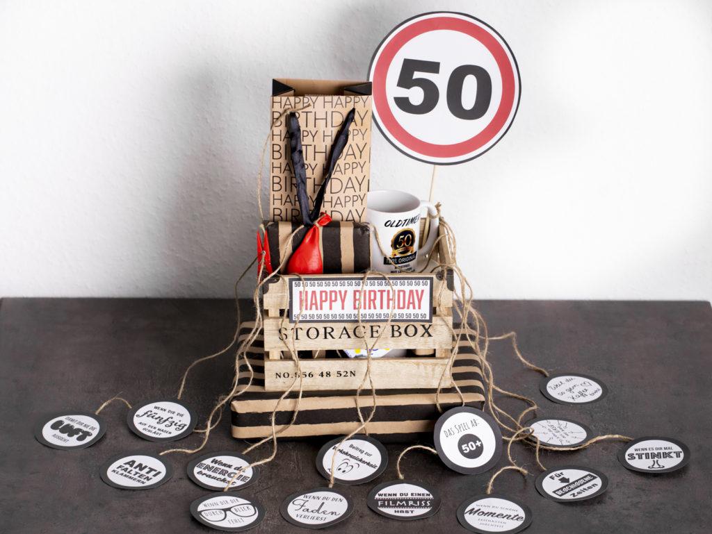 Geschenk zum 50. Geburtstag | Wenn Box PDF Download