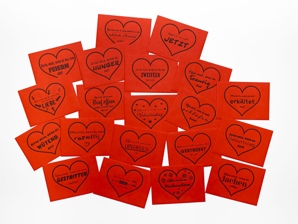 Öffnen Wenn Briefe zum Valentinstag