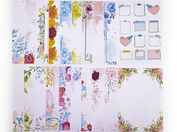 Wunderschönes Blumenprint Aquarell Briefpapier