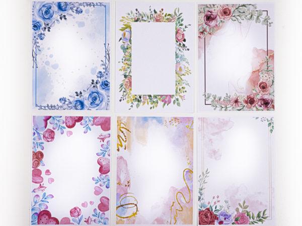 wunderschönes Briefpapier mit Blumen Aquarell Design