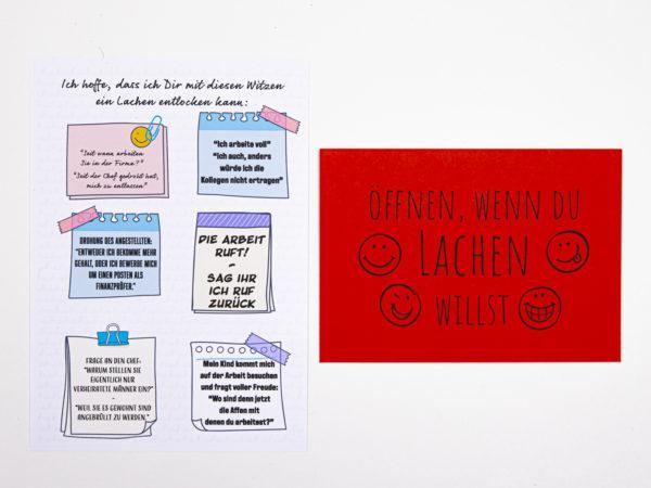 Öffnen Wenn Briefe Geschenk für Kollegen Öffnen wenn du lachen willst