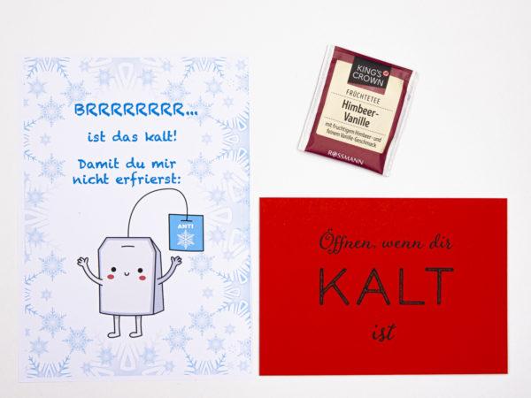Öffnen Wenn Briefe Geschenk für Kollegen Öffnen wenn dir kalt ist