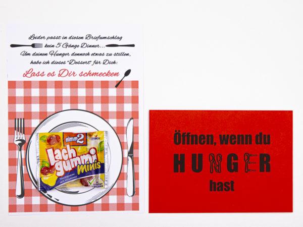 Öffnen Wenn Briefe Geschenk für Kollegen Öffnen wenn du Hunger hast