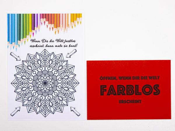 Öffnen Wenn Briefe Geschenk für Kollegen Öffnen wenn dir die Welt farblos erscheint
