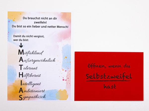 Öffnen Wenn Briefe Geschenk für Kollegen Öffnen wenn du Selbstzweifel hast