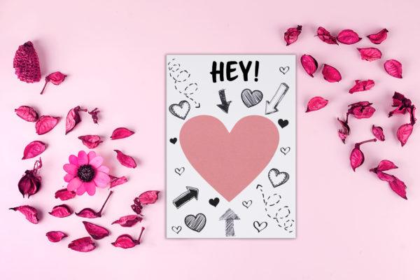 Postkarte zum freirubbelnd für die aller beste freundin der Welt mit personalisierung