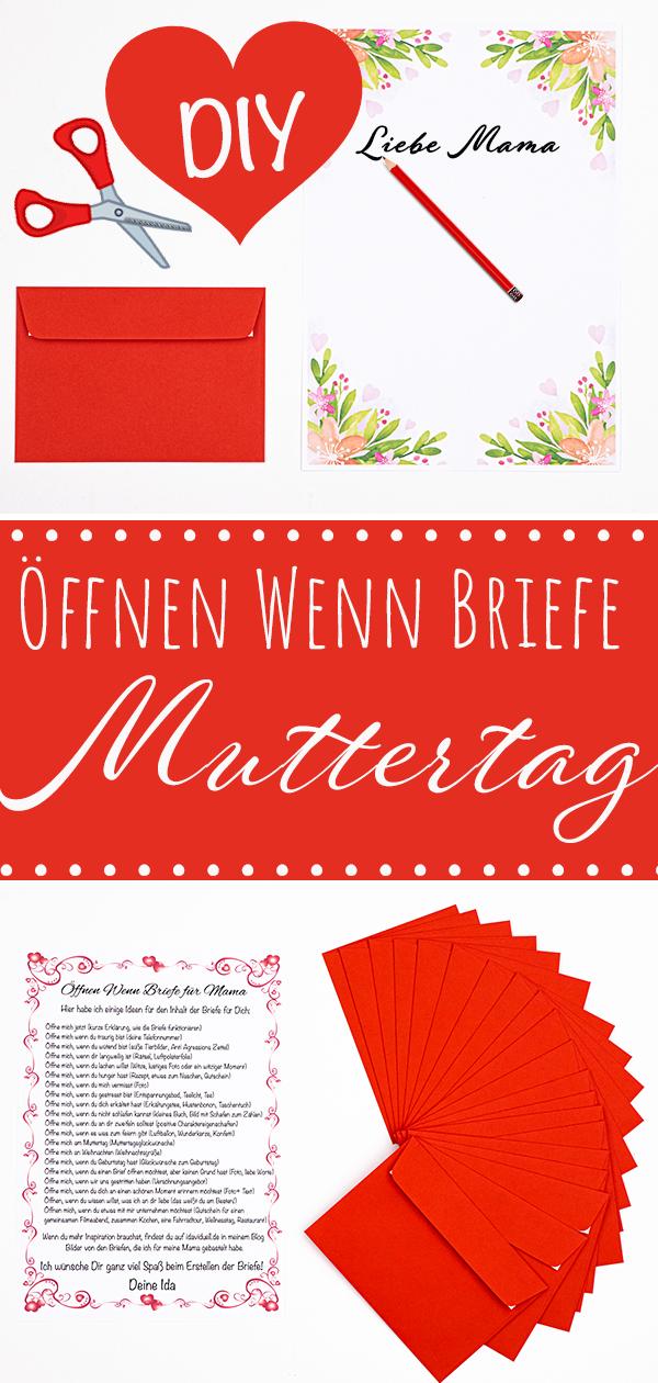 öffnen wenn briefe für mama Bastelset geschenk zum muttertag selber machen
