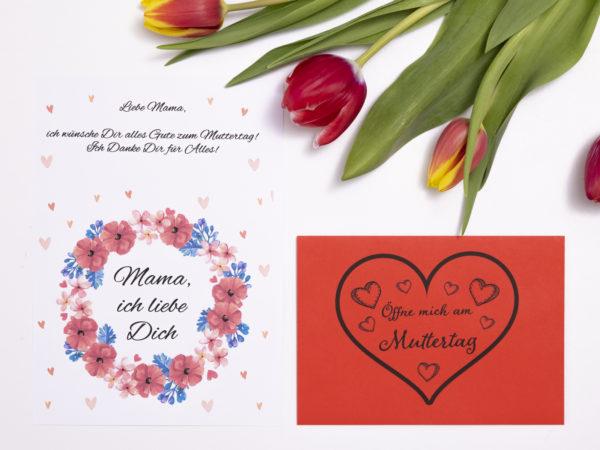 öffnen wenn briefe für mama personalisiertes geschenk zum muttertag