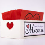 öffnen wenn briefe für mama in einem wunderschönen Holzbox