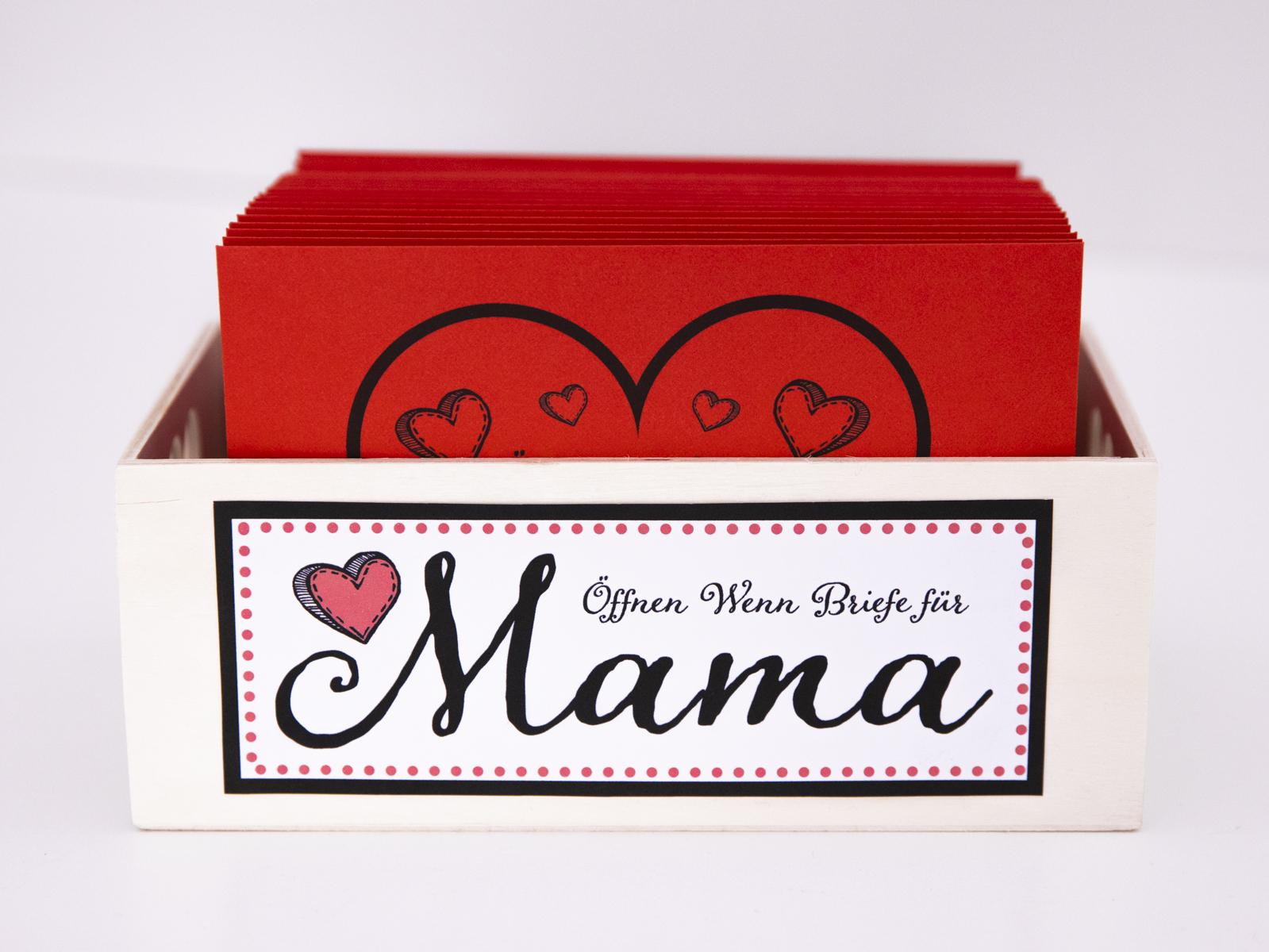 öffnen wenn briefe für mama handgemachtes geschenk zum muttertag