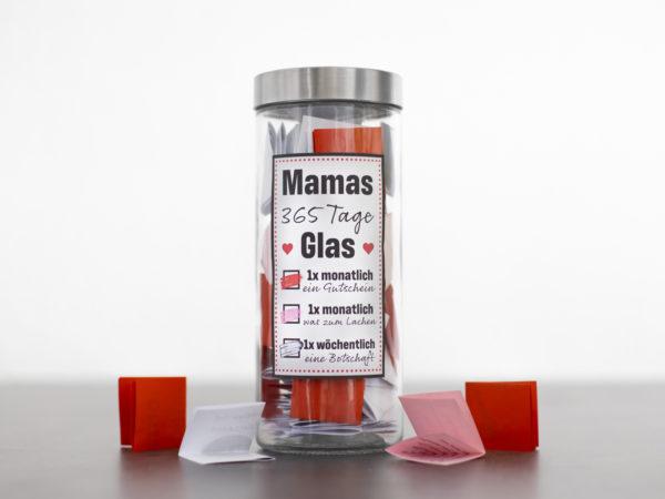365 Tage Glas für Mama eine wunderschöne Geschenkidee zum Muttertag