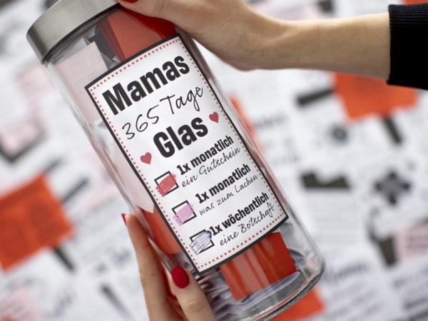 dieses 365 Tage Glas ist das perfekte geschenk für deine mama zum muttertag