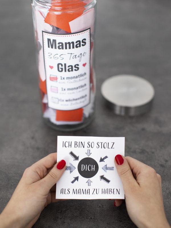 zeig deiner mama wie lieb du sie hast mit diese 365 Tage Glas zum Muttertag