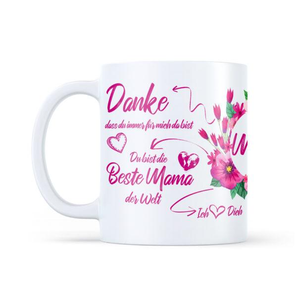 Du bist die beste Mama der Welt Tasse als Geschenk zum Muttertag