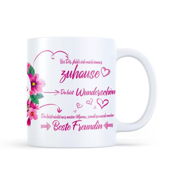 Auf dieser Tasse für deine Mama befinden sich die liebevollsten Sprüche zum Muttertag