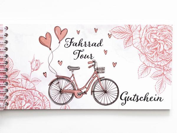 Gutschein für eine Fahrradtour für Mama